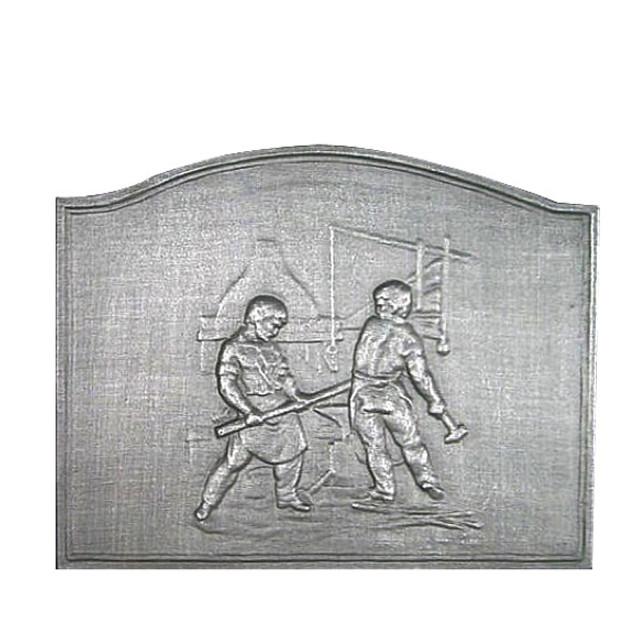 Plaque fonte Les forgerons 68 x 54 cm