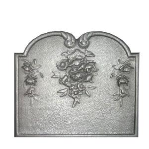 Plaque fonte cheminée décorée Le bouquet 60 x 50 cm