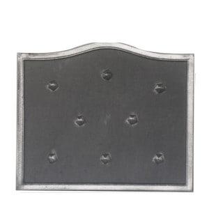 Plaque fonte cheminée décorée A clous 60 x 50 cm