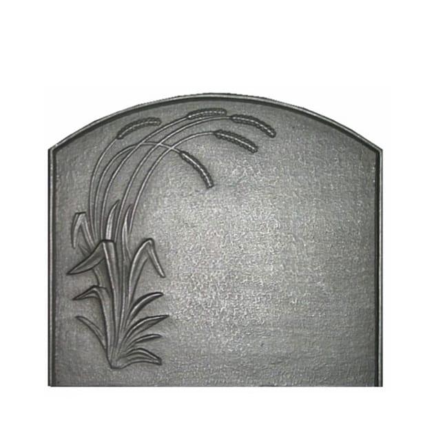 Plaque fonte cheminée décorée Épis de blé 60 x 50 cm