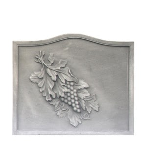 Plaque fonte cheminée décorée Raisin 58 x 49 cm