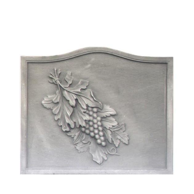 Plaque fonte cheminée ancienne Raisin 58 x 49 cm