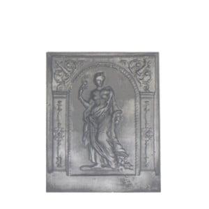 Plaque fonte cheminée décorée deesse de l'abondance 51 x 63 cm