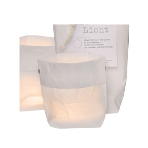 Sac de lumière avec bougies x4 Raumgestalt Blanc