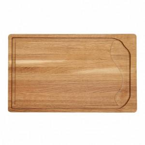 Billot épais Wood for Food en chêne avec rigole 50 x 30cm