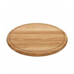 Planche à pizza épaisse Wood for Food en chêne avec rigole Diam 40cm