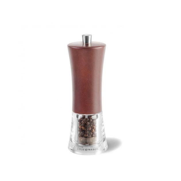 Moulin à poivre Genoa Cole & Mason hêtre teinté noyer foncé 16,5 cm