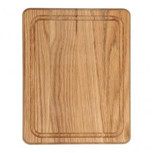 Planche à découper Wood for Food en chêne avec rigole 25 x 20cm