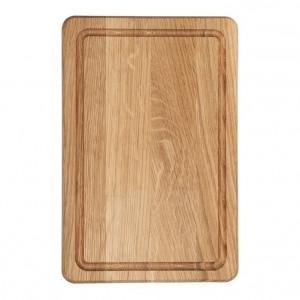 Planche à découper Wood for Food en chêne avec rigole 30 x 20cm