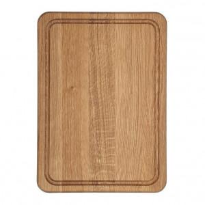Planche à découper Wood for Food en chêne avec rigole 35 x 25cm