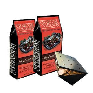 Copeaux de fumage Charcoal Companion  x2 + boitier boeuf/agneau