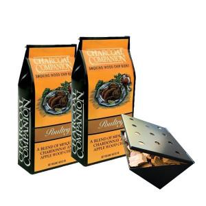 Copeaux de fumage Charcoal Companion volaille x2 + boitier