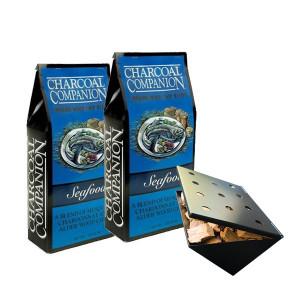 Copeaux de fumage Charcoal Companion poissons/fruits de mer x2 + boitier