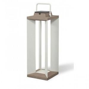 Lampe solaire Les Jardins Teckalu blanc 500 lumens 65 cm