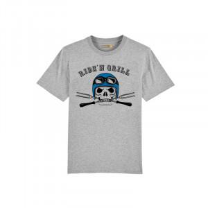 T-shirt Barbecue Republic  Gris Biker Bleu XL