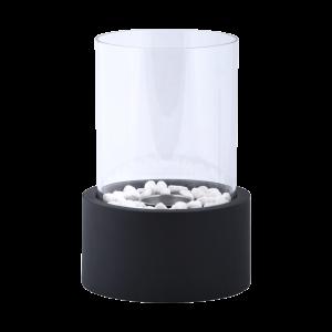 Lampe bioethanol ronde