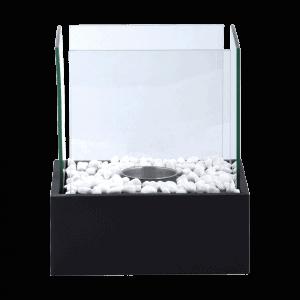 Lampe bioéthanol carrée