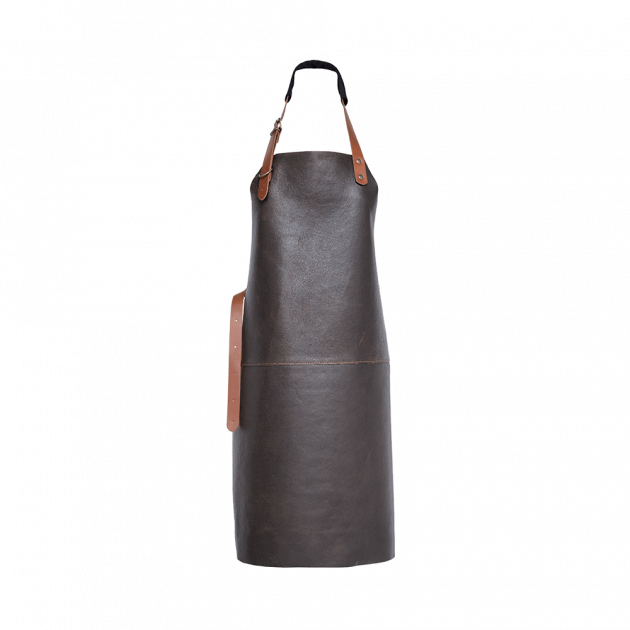 Tablier en cuir avec coutures | Xapron