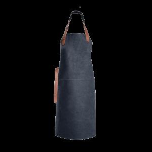 Tablier en cuir Xapron Tennessee noir avec couture