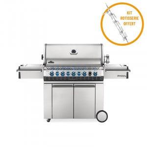 Barbecue gaz naturel  Napoleon Pro 665 infrarouge inox