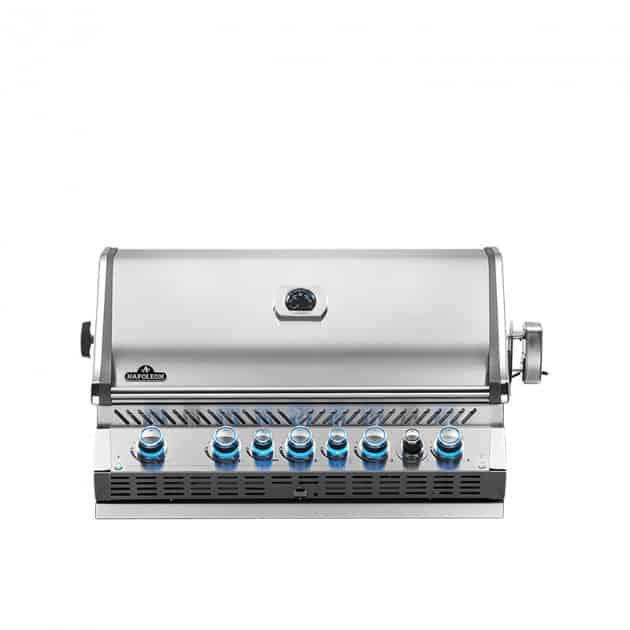 Barbecue gaz naturel encastrable Napoleon Prestige Pro 665 inox