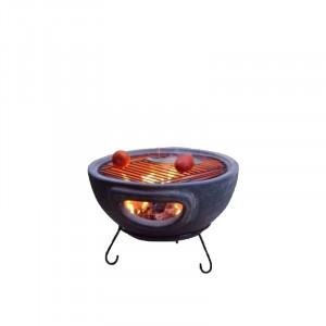 Barbecue de table Mexico Trade Center Aztec 44 cm sur base gris