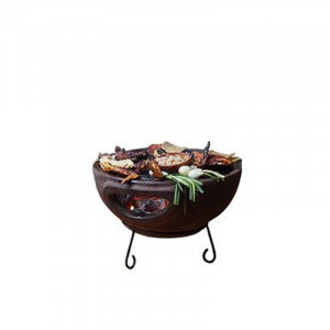 Barbecue de table sur base Mexico Trade Center Aztec 44 cm marron