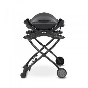 Barbecue électrique Weber Q 1400 gris anthracite avec chariot