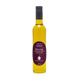 Huile d'olives de Nyons macérât ail noir 50cl