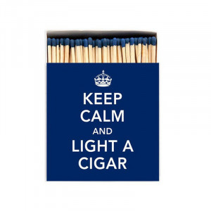 Allumettes Archivist Deluxe Keep Calm and Light a Cigar 11 cm
