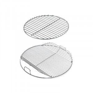 Set grille de cuisson articulée et grille foyère pour barbecue Weber 47 cm