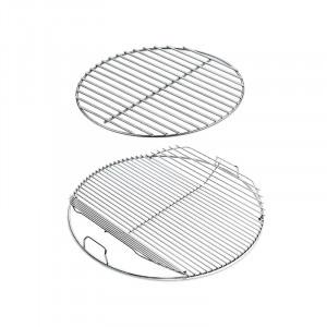 Set grille de cuisson articulée et grille foyère pour barbecue Weber 57 cm