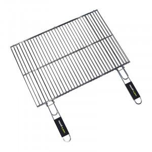 Grille double rectangulaire Cook'in Garden 60x40 acier chromé