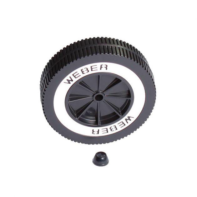 Roue barbecue charbon Weber avec clips de fixation diamètre 15 cm