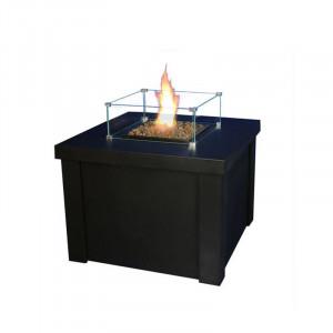 Braséro table gaz Fargau Cubix Noir