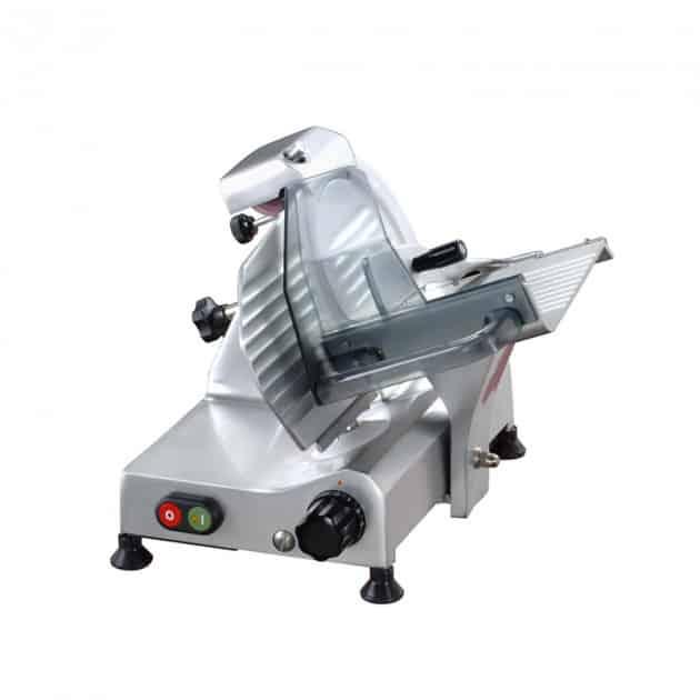 Trancheuse électrique grise 195 mm avec affuteur