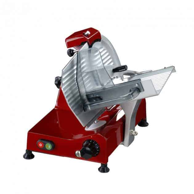 Trancheuse électrique rouge 195 mm avec affuteur