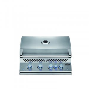 Barbecue gaz encastrable Napoléon BIG32 Inox 4 brûleurs + 1 rôtissoire