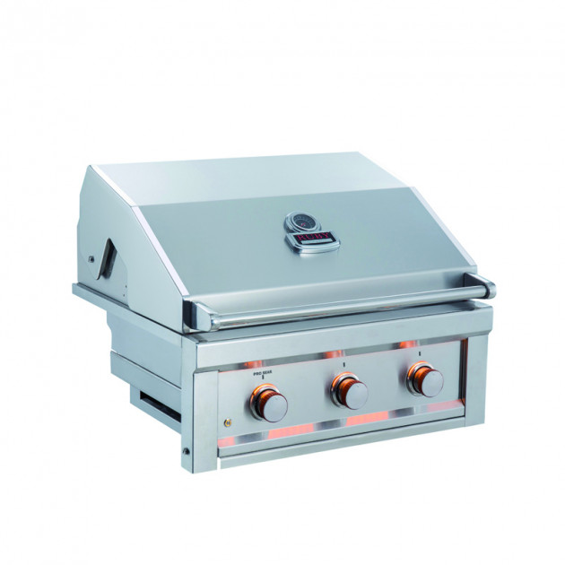Barbecue gaz encastrable 3 feux SUNSTONE RUBY3B-LP