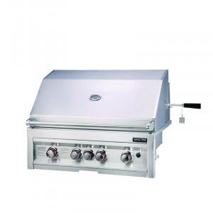 Barbecue gaz encastrable Sunstone Sun Inox 4 brûleurs + 1 rôtissoire