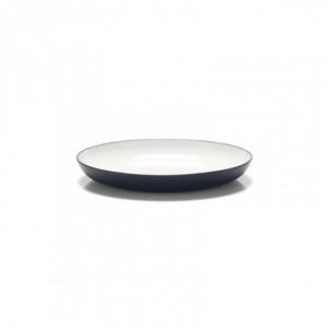 Assiette 22 cm Platex Wave Noire