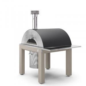 Four à pizza bois Fontana Bellagio sur chariot