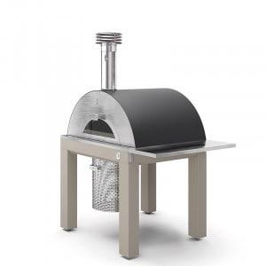 Four à pizza bois Fontana Riviera sur chariot