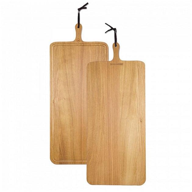 Planche à découper Dutchdeluxes en chêne massif XL 34 x 70 cm
