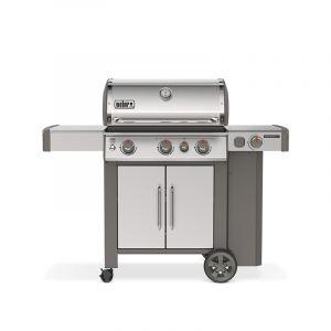 Barbecue gaz Weber Genesis 2 SP-335 GBS Inox 3 brûleurs + 1 latéral
