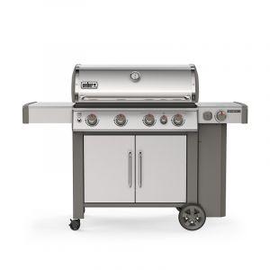 Barbecue gaz Weber Genesis 2 SP-435 GBS Inox 4 brûleurs + 1 latéral
