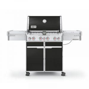 Barbecue gaz Weber Summit E-470 GBS Noir 4 brûleurs + 1 latéral + 1 arrière