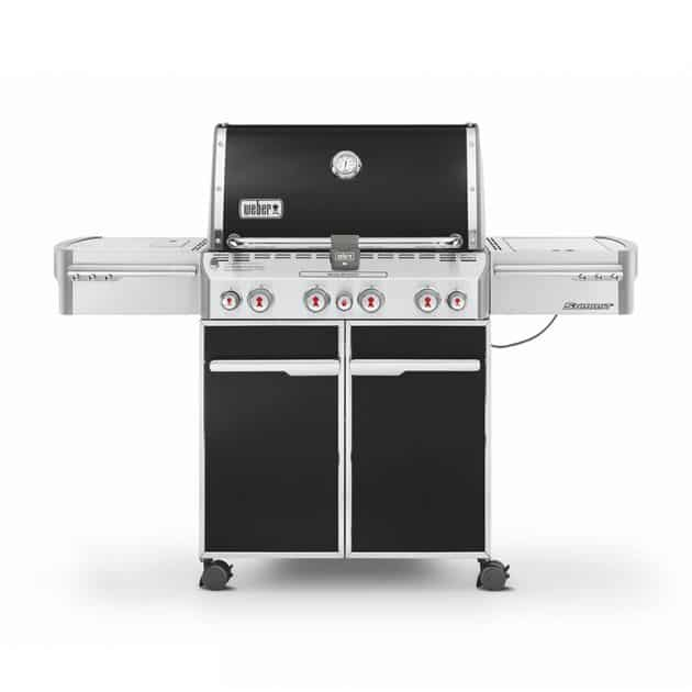 Barbecue gaz Weber Summit E-470 GBS Noir 4 brûleurs + 1 latéral + 1 rôtissoire