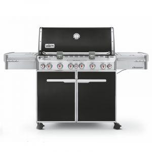 Barbecue gaz Weber Summit E-670 GBS Noir 6 brûleurs + 1 latéral + 1 arrière