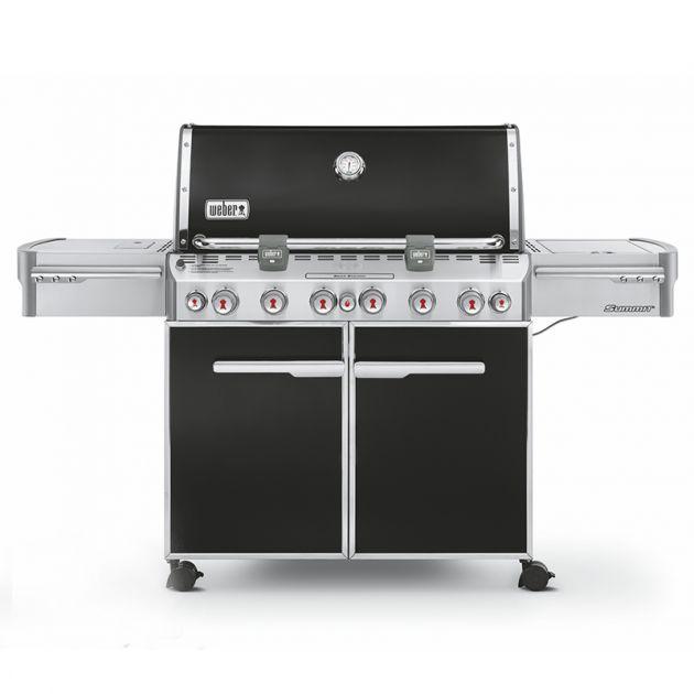 Barbecue gaz Weber Summit E-670 GBS Noir 6 brûleurs + 1 latéral + 1 rôtissoire